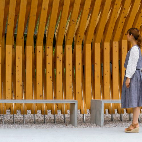 Design Spectrum 設計光譜 Exhibitors stories 設計師與創作故事 Wooden bus stop at park